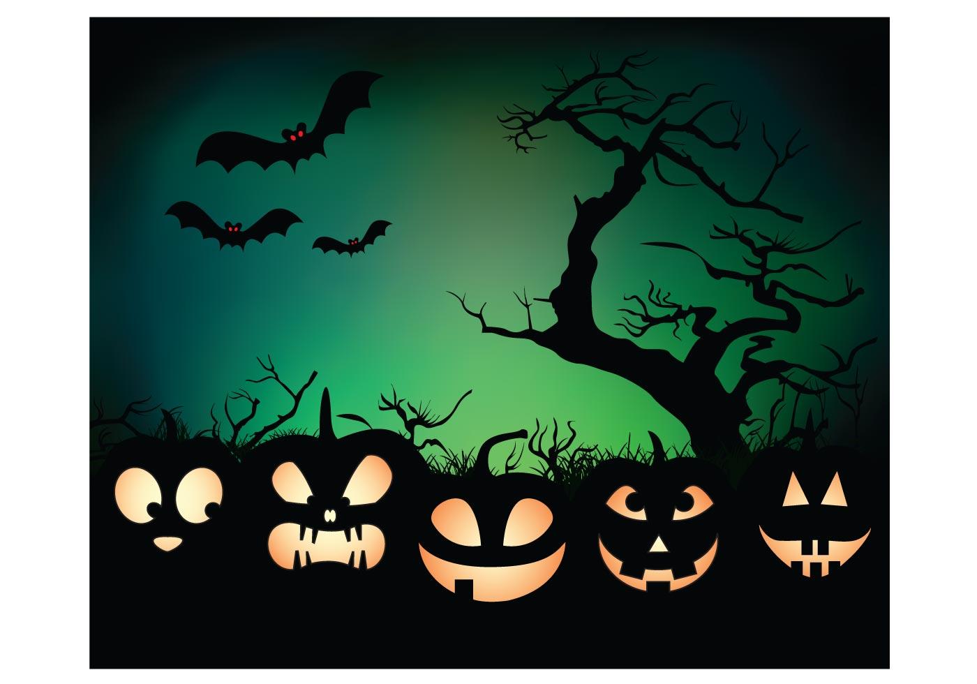 Halloween Night Background Download Free Vector Art