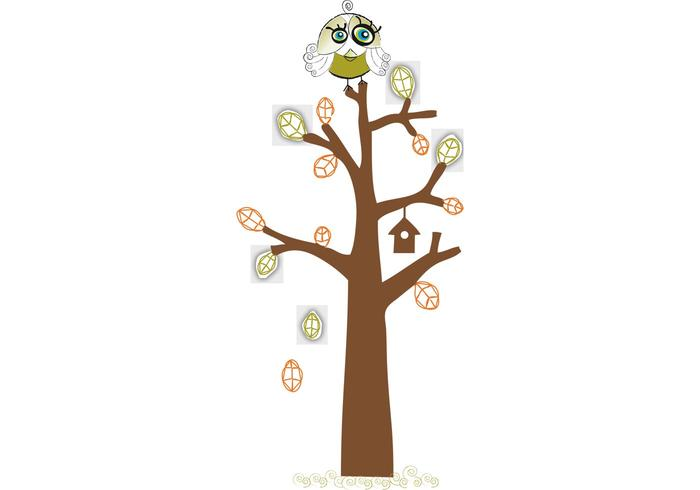 Bird on the Tree Vector