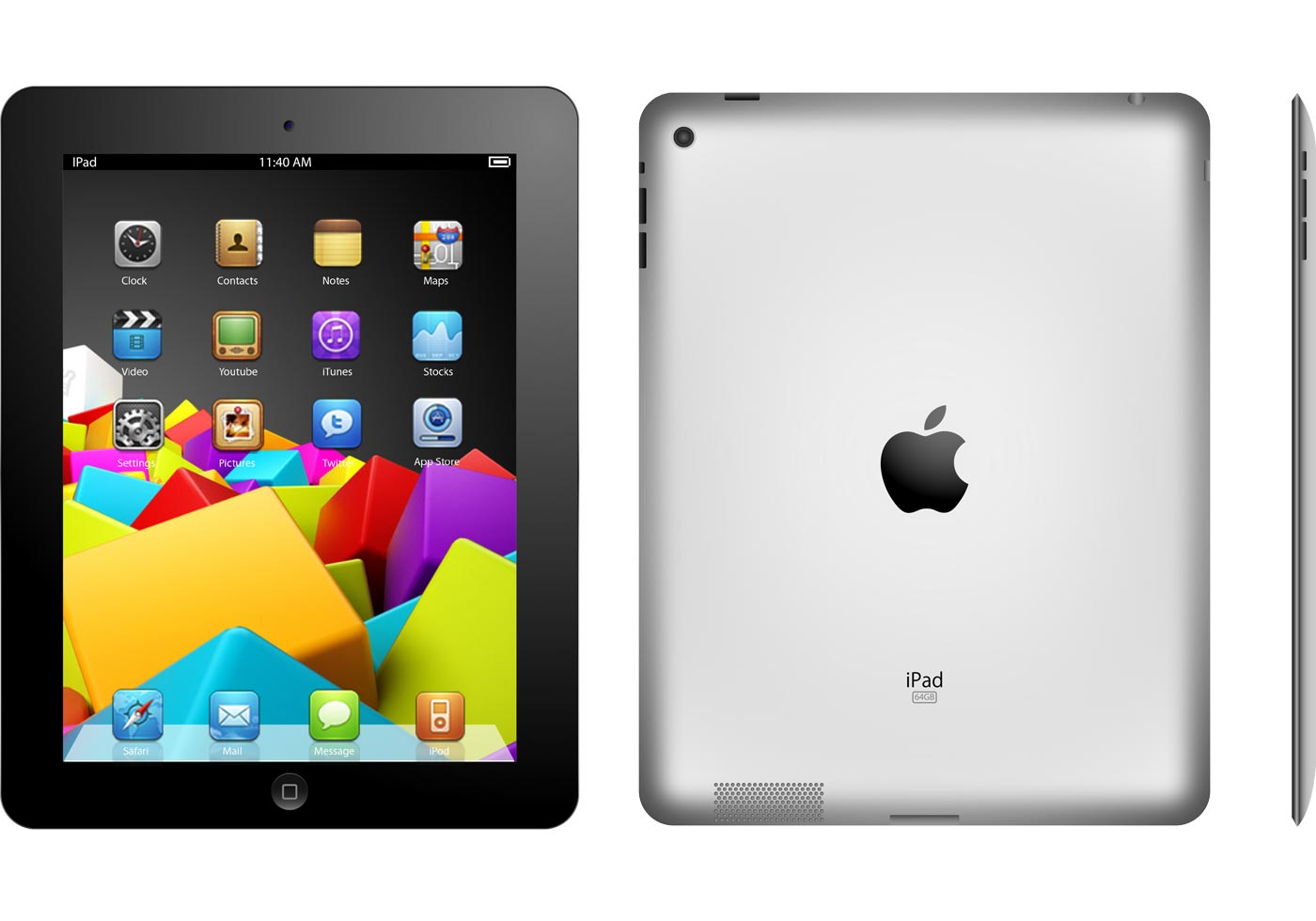 free ipad 2 apple vector