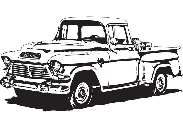 1950's GMC Pick-Up Vector