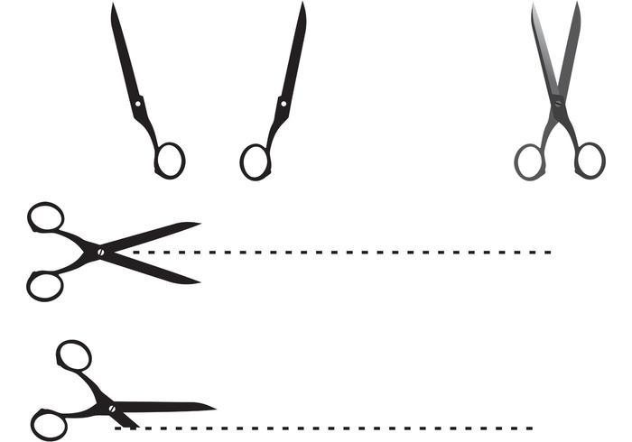 Free Cutting Edge Scissor Vectors