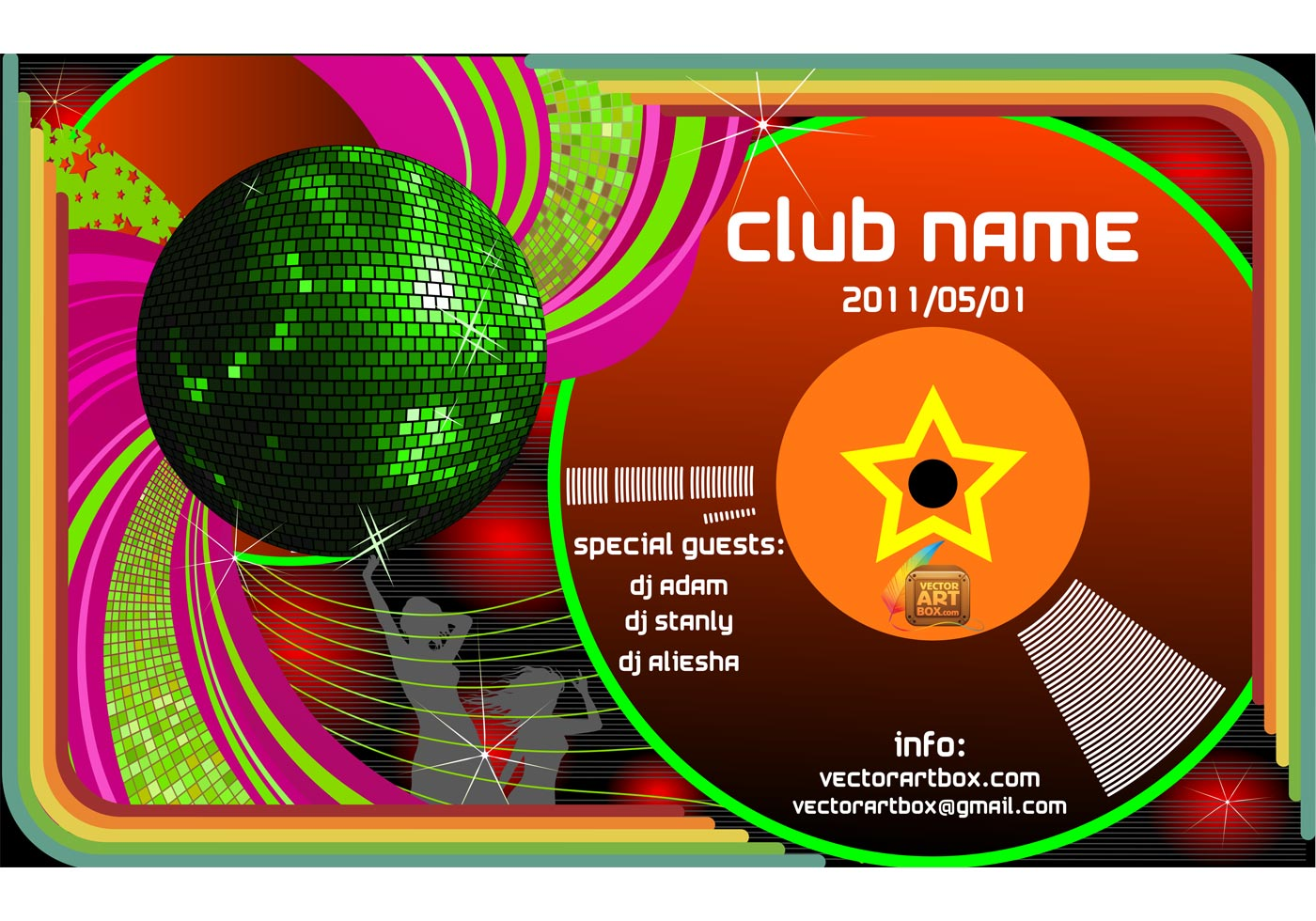 club poster free vector art 11237 free downloads