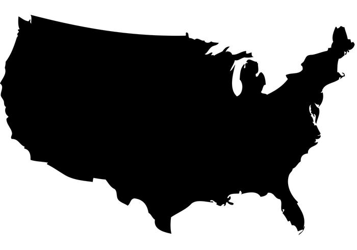 US Map Silhouette Vector