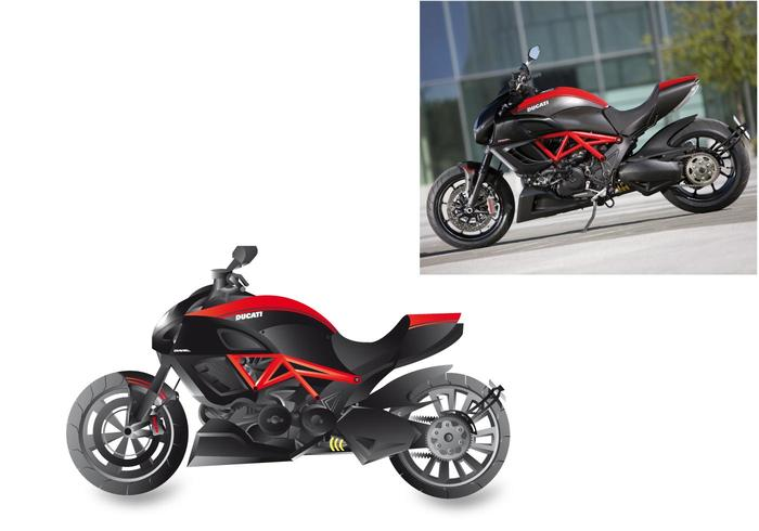 Ducati Diavel Motorcycle Vector