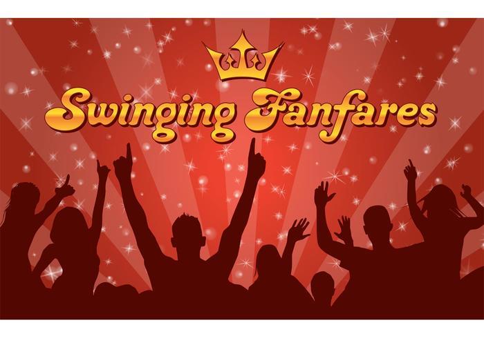 Swinging Funfares Wallpaper Vector