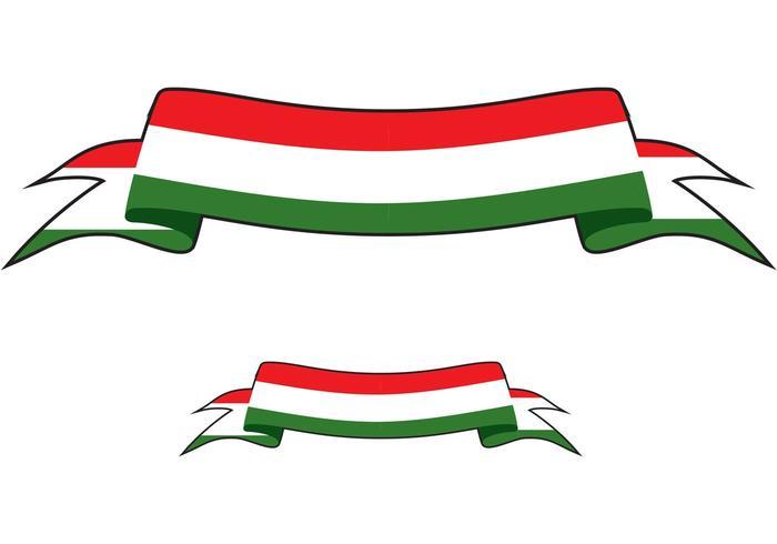 Vector de bandeira italiana