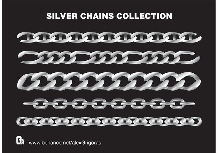 Silver Chains Vector Collection