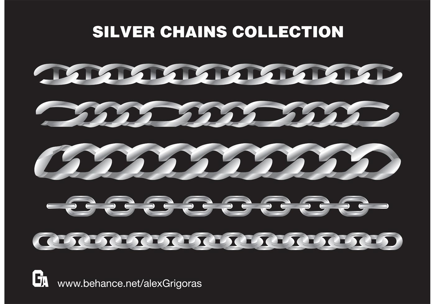 Free Silver Chains Vectors