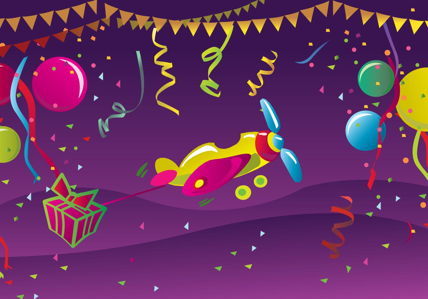 happy birthday postcard download free vector art stock