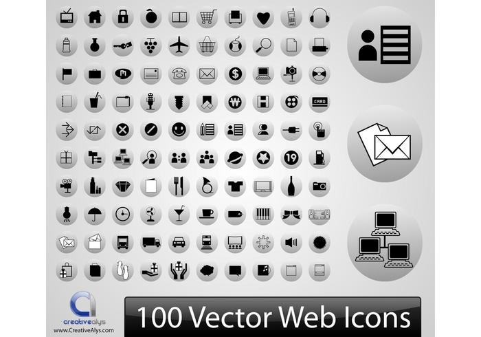 100 Vector Web Pictogrammen