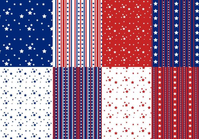 Stars and Stripes Vector Pattern Pack