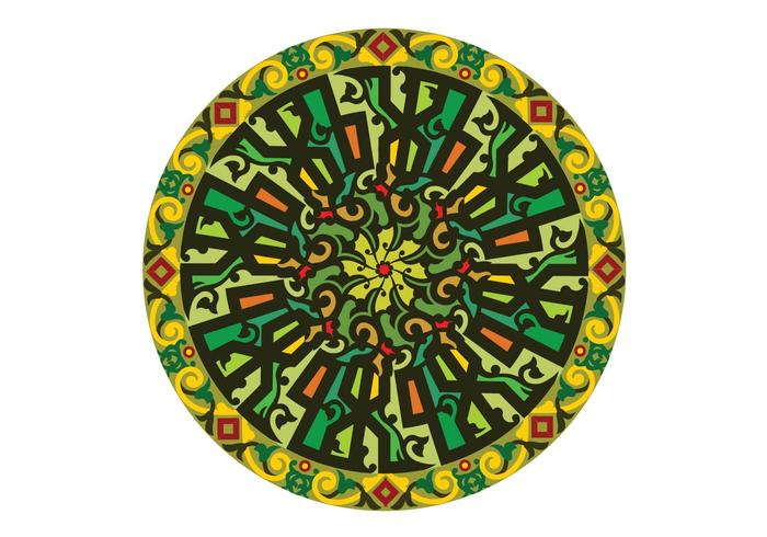 free moslem circular calligraphy Allah
