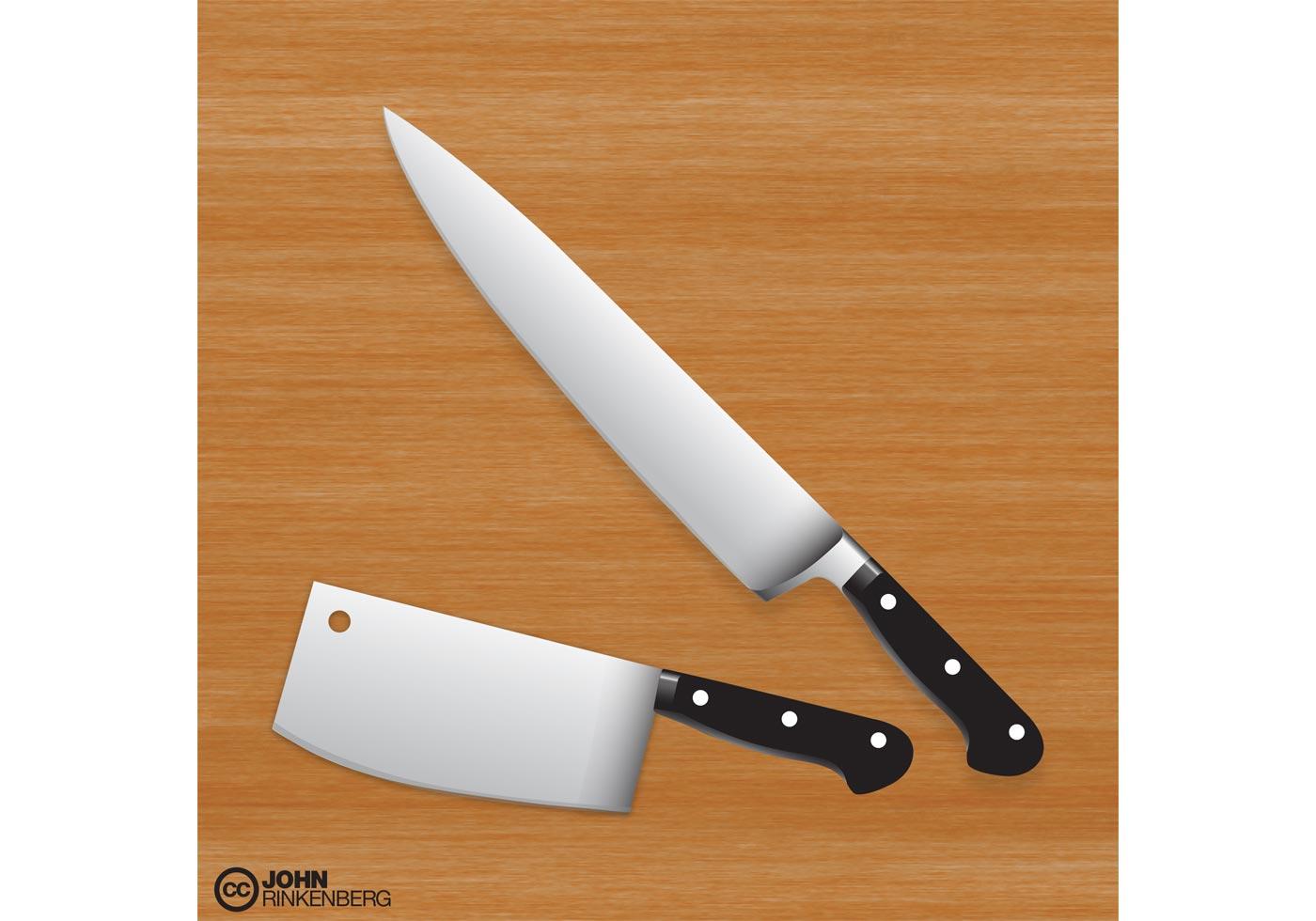 Kitchen Knife Vector free butcher knife vector set
