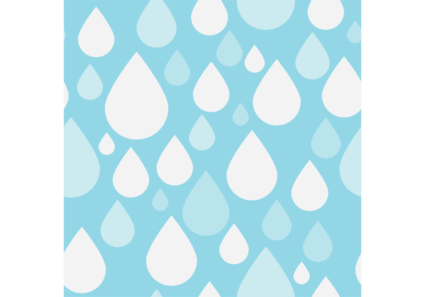 Pattern Vector of Simple Rain Drops