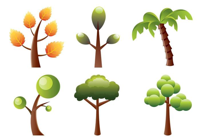 stylized trees vector pack download free vector art stock rh vecteezy com vector trees outline vector trees top view