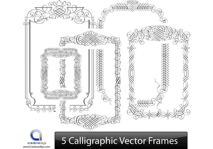 Calligraphic vector frames download free art