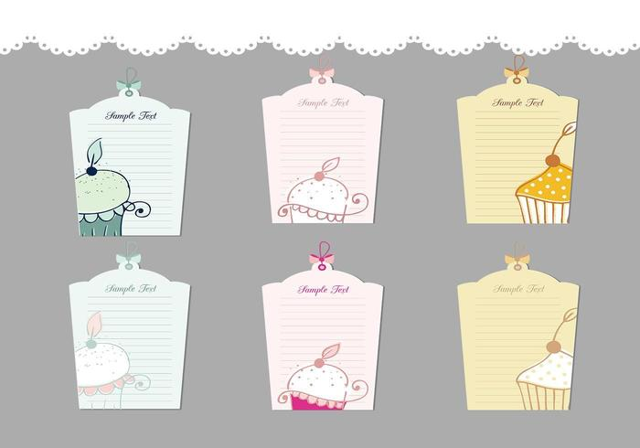 Cupcake label vector pakket
