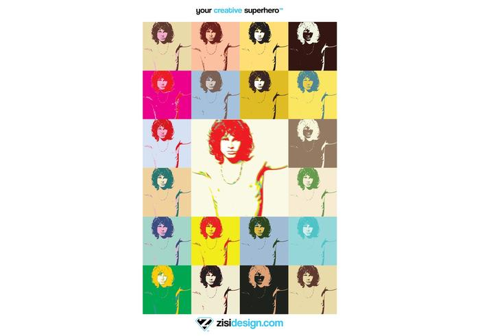 Pop Art Jim Morrison The Doors Poster Vector