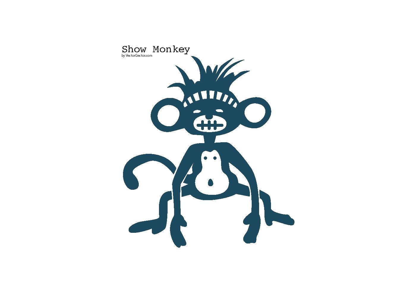 Show Monkey Vector