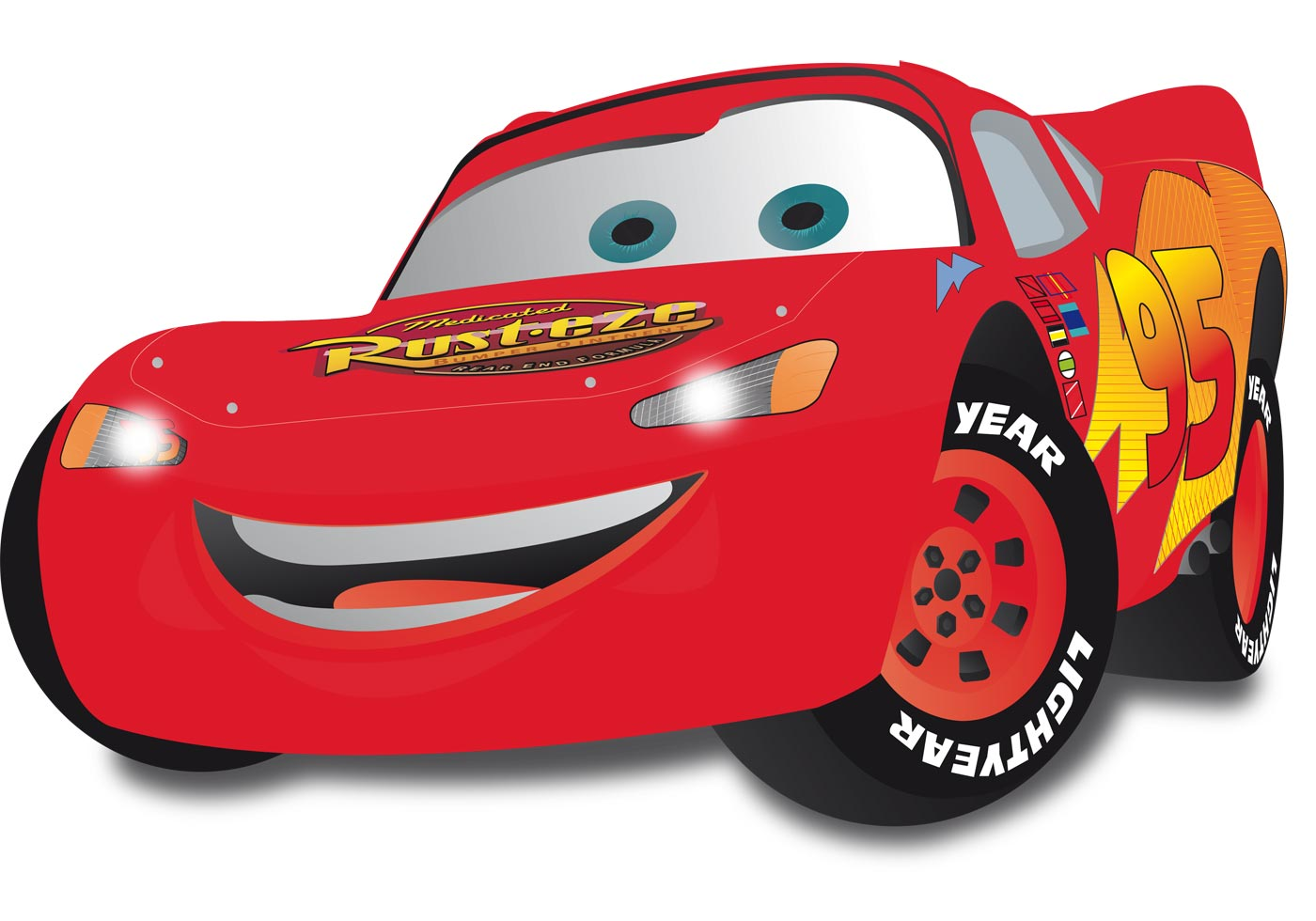 Lightning Mcqueen Car Cake Template Free