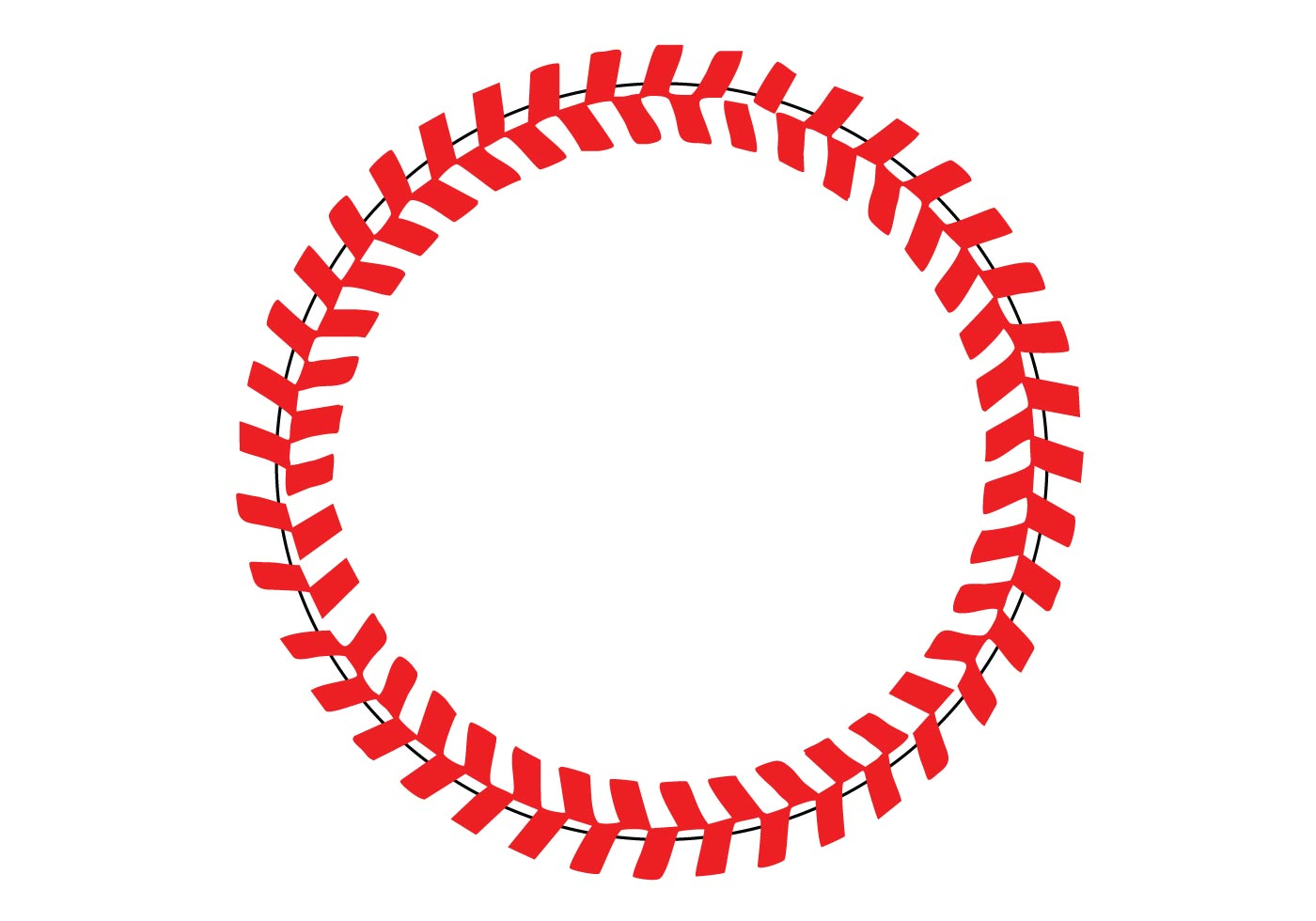 Free Baseball Stitches In A Circle Vector