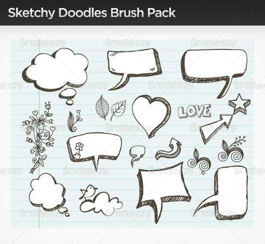 Doodle esboçado Vector Pack