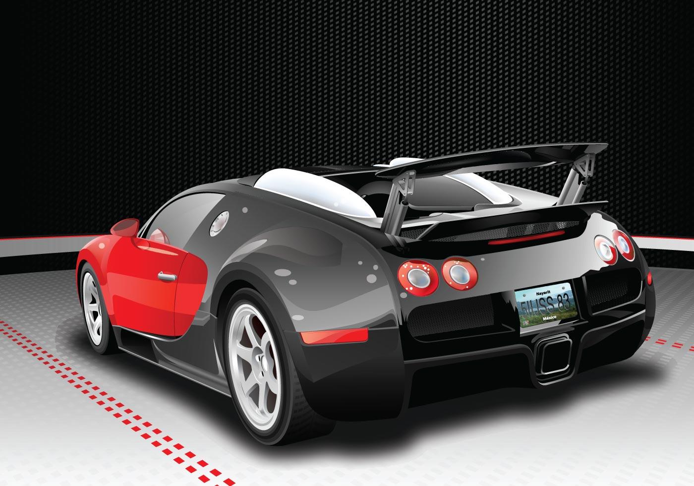 free bugatti veyron vector. Black Bedroom Furniture Sets. Home Design Ideas