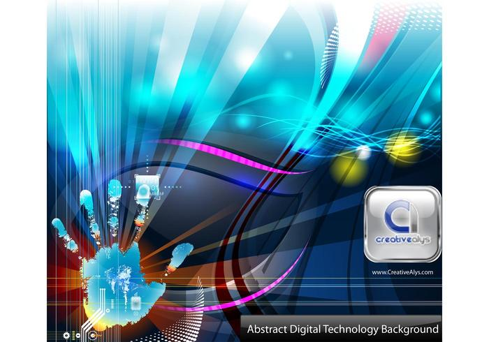 Abstract Digital Technology Vector Background - Download ...