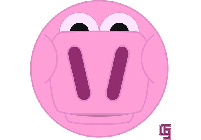 Cartoon Pig Face Vector