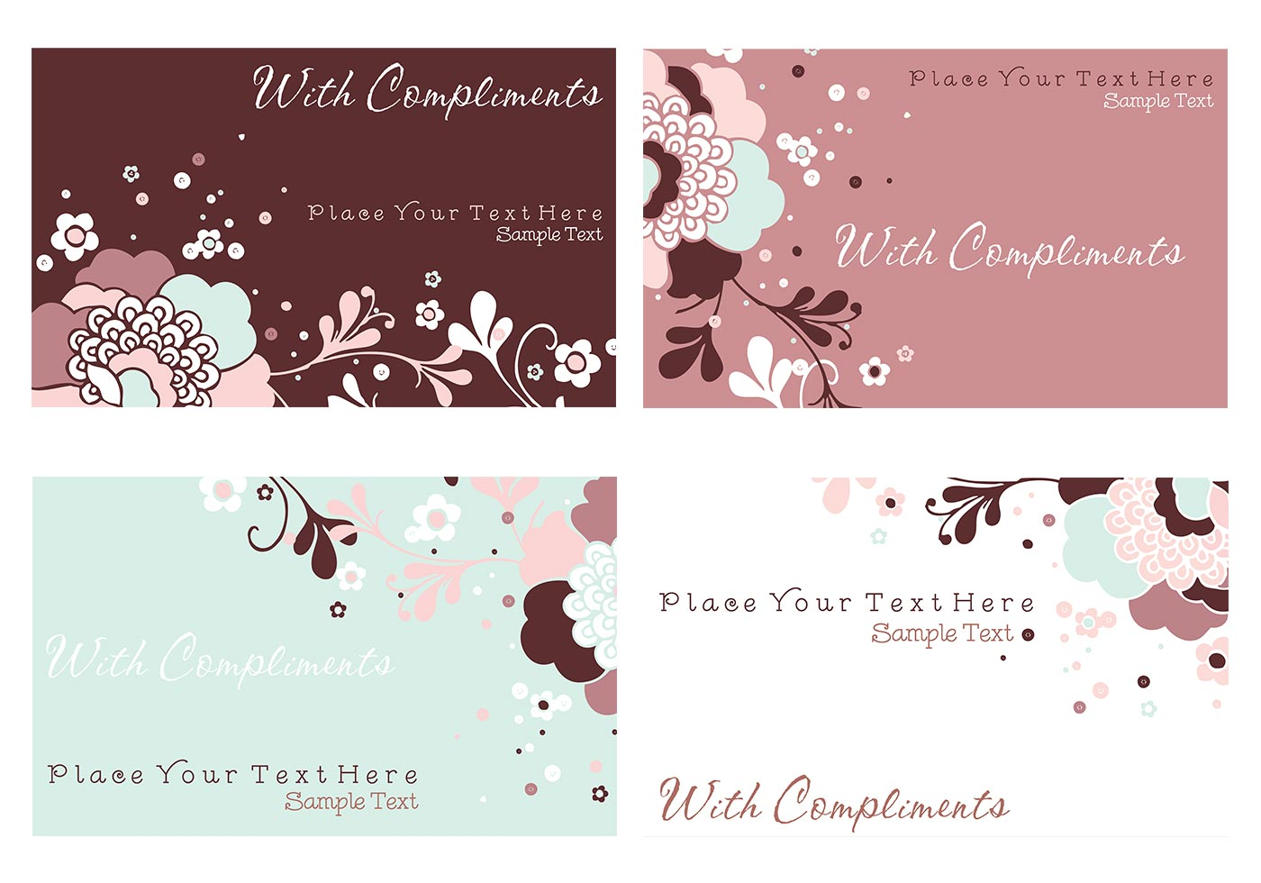Floral Business Card and Stationery Vector Pack - Download Free ...