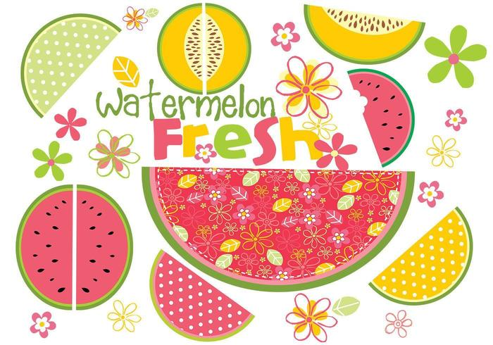 Fresh Watermelon Vector Pack