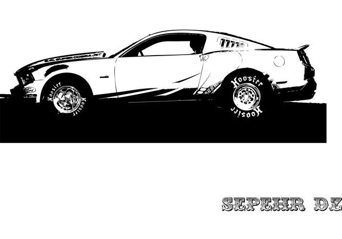 Mustang av-x10 vector