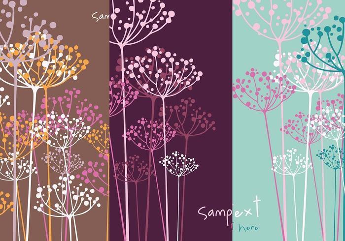 Dill Flower Vector Wallpaper Pack