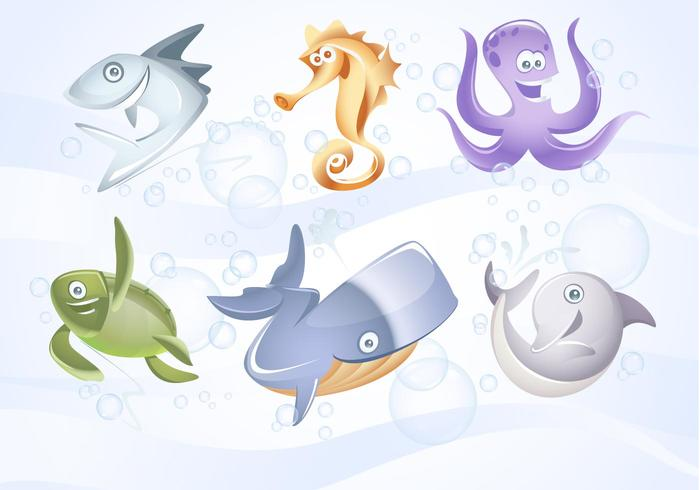 Marine Vector Animals Collection
