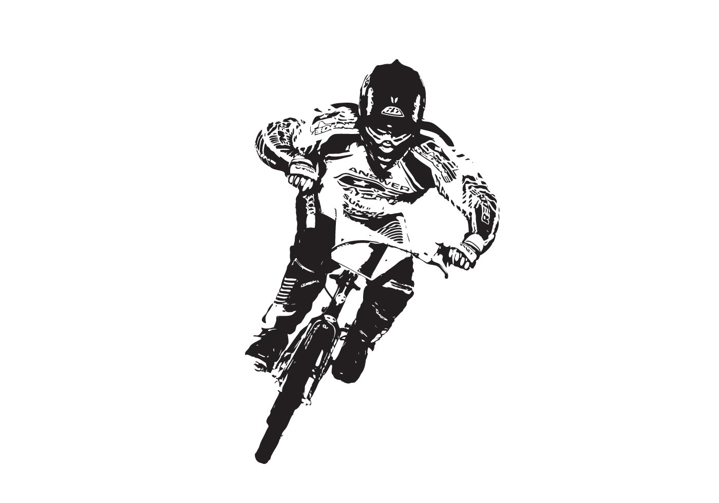 BMX-racer - Download Free Vector Art, Stock Graphics & Images