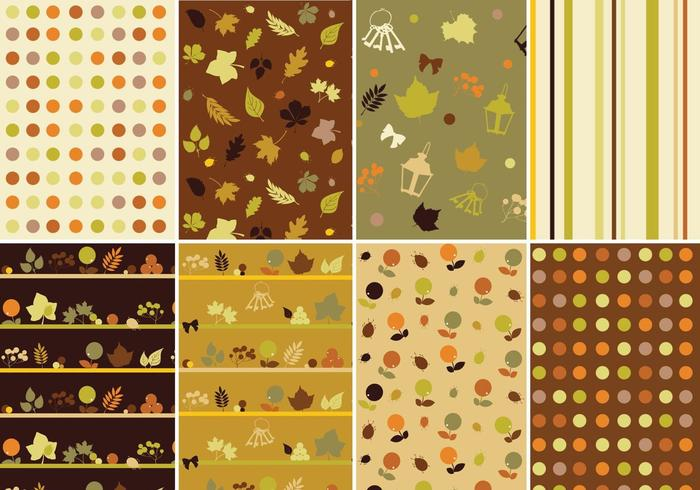Warm Fall Vector Pattern Pack