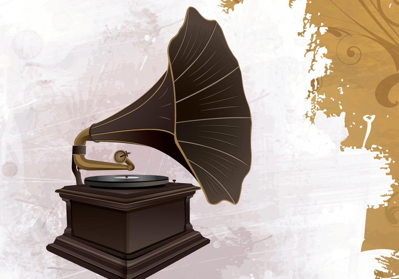Retro Phonograph Sound Download Free Vector Art Stock