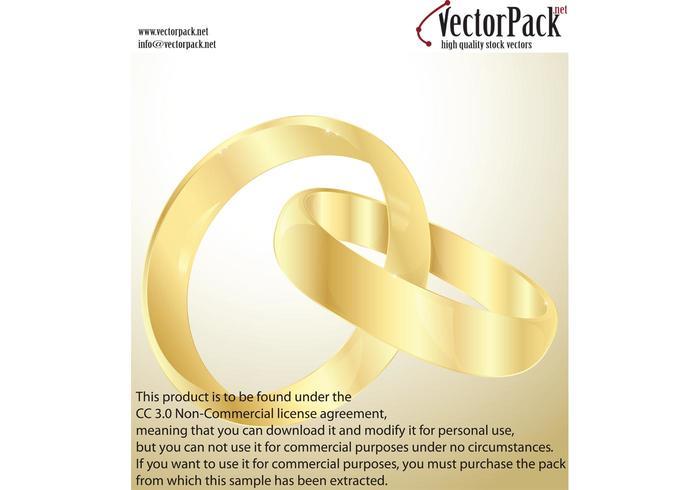 Wedding Gold Rings Vectors