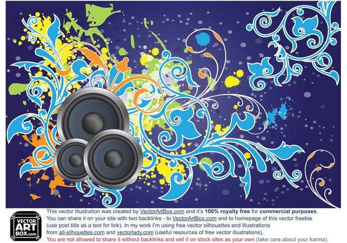Vector Free Floral Loudspeaker BG Art