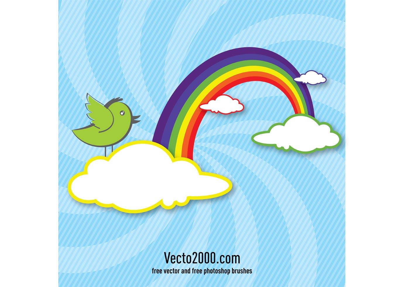 Rainbow Silhouette Baby Cake