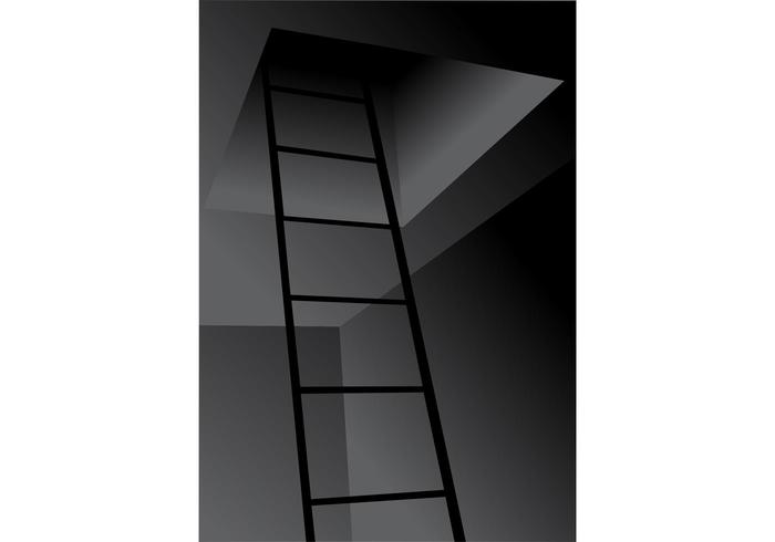 Ladder to the Roof Vector