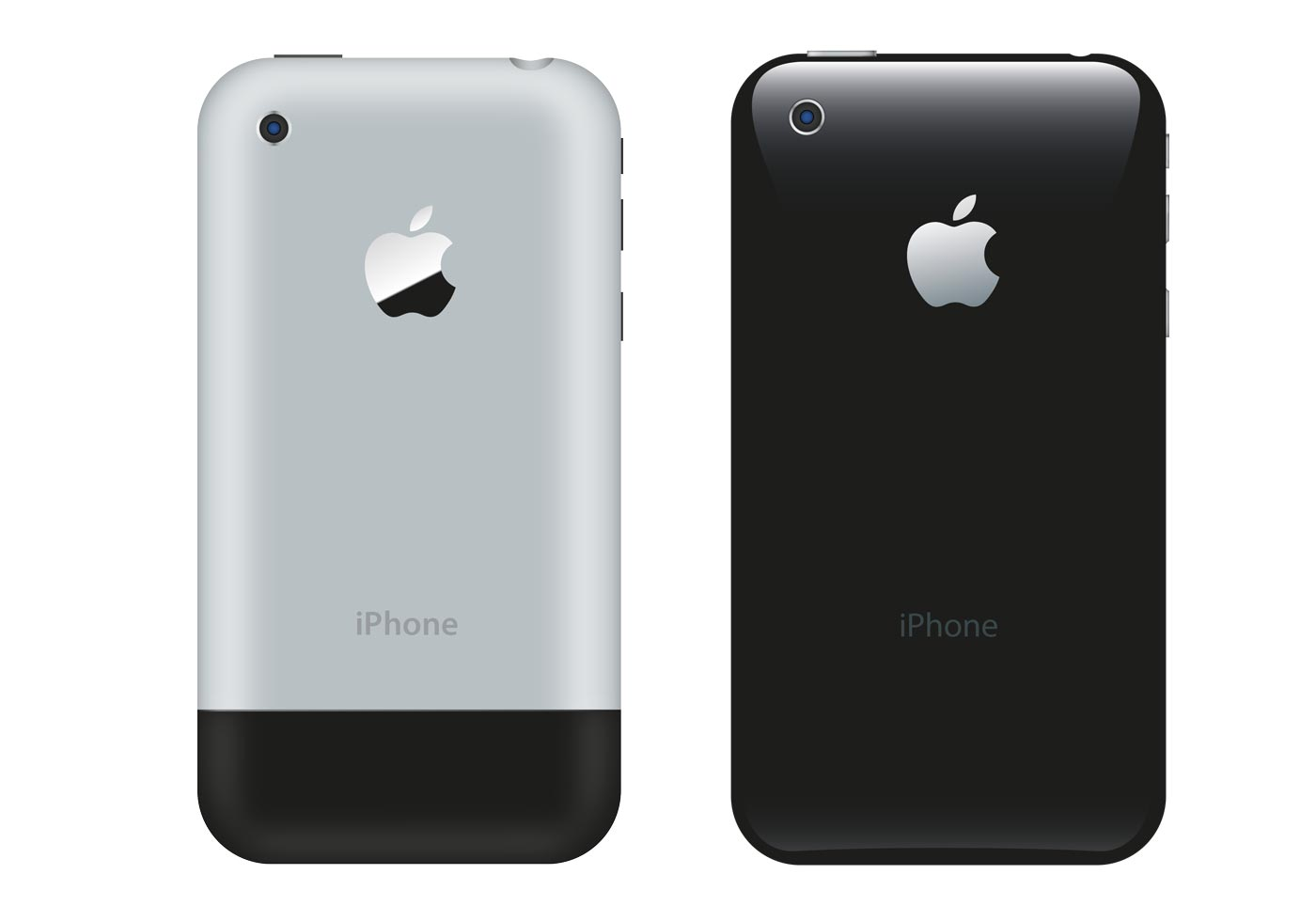 iPhone - Rear view - Download Free Vector Art, Stock ...