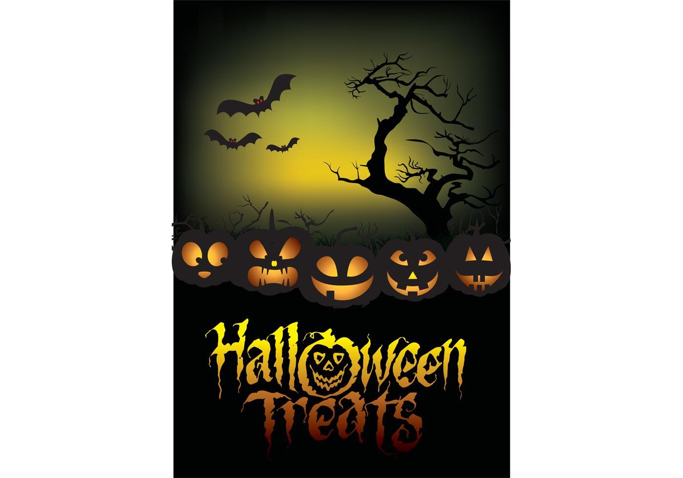 Halloween Treats Poster Download Free Vector Art Stock