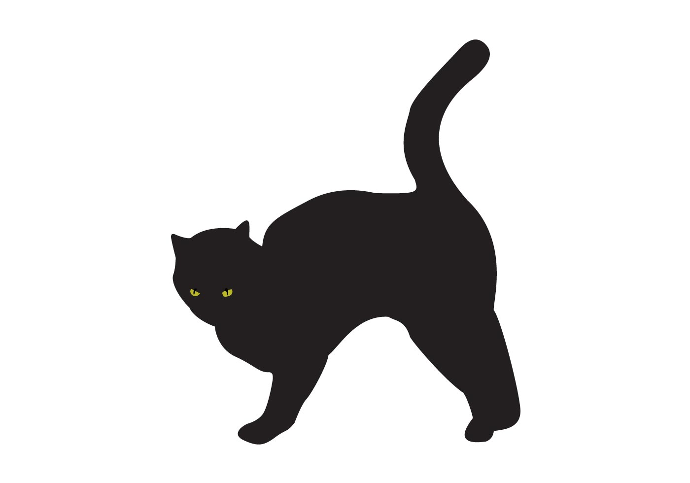 Free Black Cat Silhouette Vector
