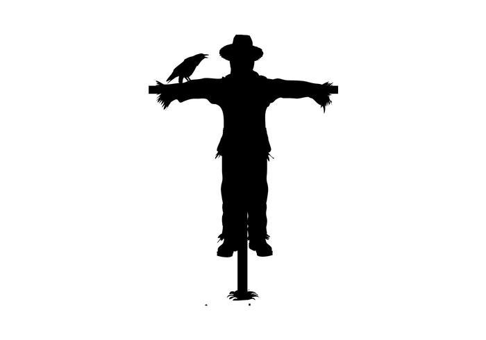 Scarecrow Silhouette Vector