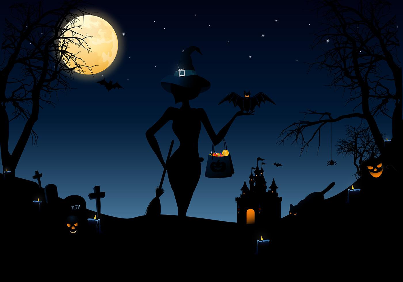 Halloween Nights Vector Pack - Download Free Vectors ...