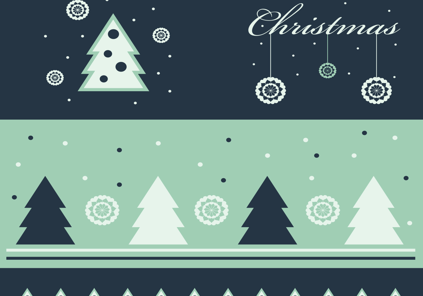 green christmas wallpaper and vector pack - download free vector art
