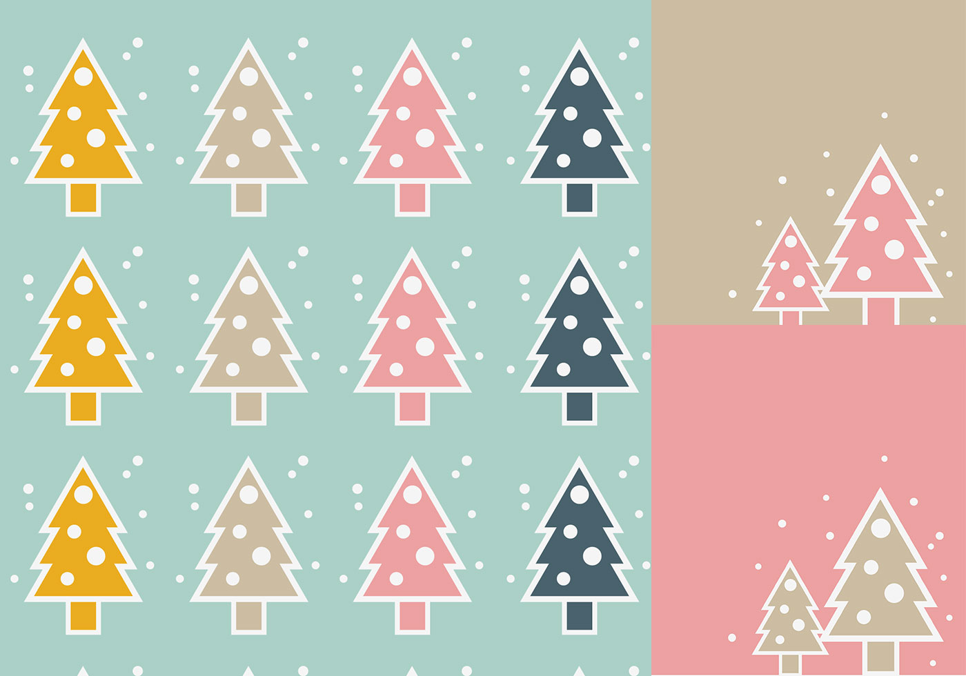 simple christmas tree vector wallpaper pack - download free vector