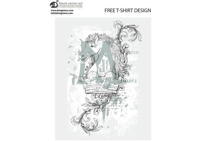 Free vintage vector t-shirt design