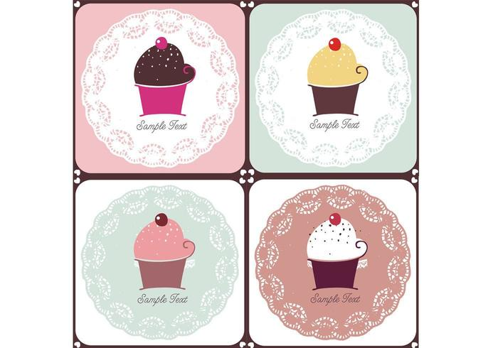 Doilies and Cupcakes Vector Pack